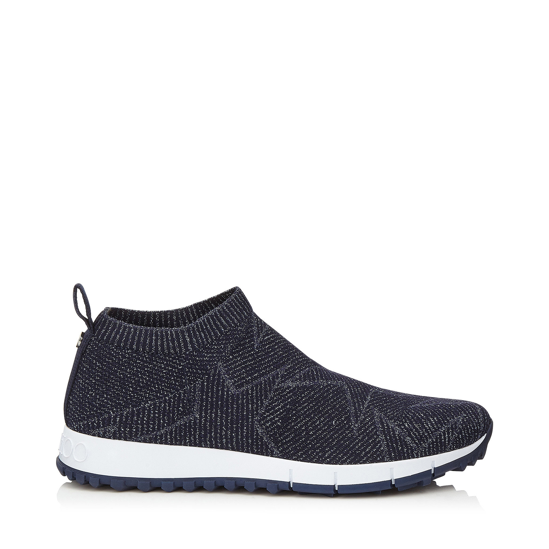 Norway Metallic Stretch-knit Sneakers - Black Jimmy Choo London Y5vSJYGGb
